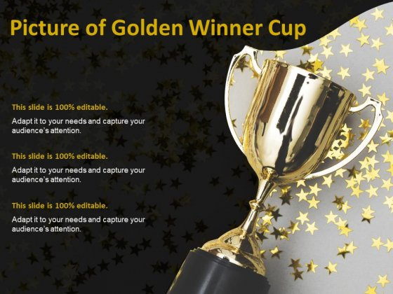 Picture Of Golden Winner Cup Ppt PowerPoint Presentation Infographics Shapes