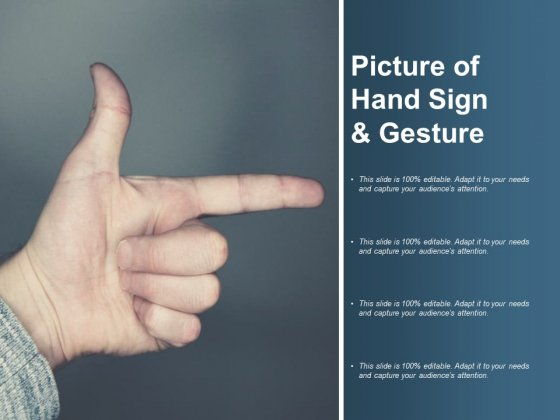 Picture Of Hand Sign And Gesture Ppt PowerPoint Presentation Diagrams