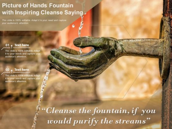 Picture_Of_Hands_Fountain_With_Inspiring_Cleanse_Saying_Ppt_PowerPoint_Presentation_File_Portfolio_PDF_Slide_1