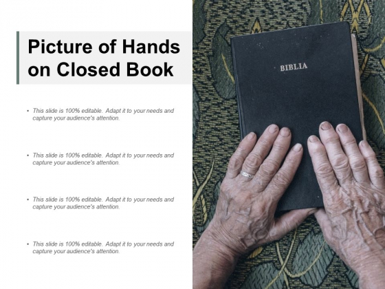 Picture Of Hands On Closed Book Ppt PowerPoint Presentation Infographics Background Images