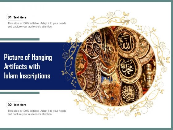 Picture_Of_Hanging_Artifacts_With_Islam_Inscriptions_Ppt_PowerPoint_Presentation_Model_Vector_PDF_Slide_1