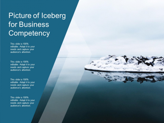 Picture Of Iceberg For Business Competency Ppt Powerpoint Presentation Slides Layout Ideas