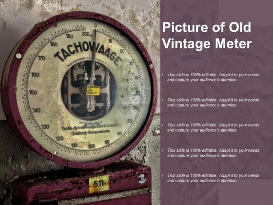 Picture Of Old Vintage Meter Ppt PowerPoint Presentation Infographic Template Sample
