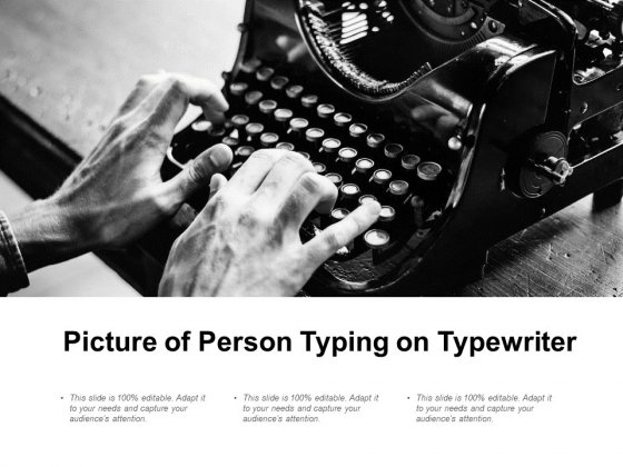 Picture Of Person Typing On Typewriter Ppt PowerPoint Presentation Infographic Template Images