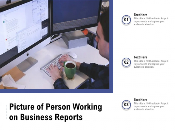 Picture Of Person Working On Business Reports Ppt PowerPoint Presentation File Guide PDF