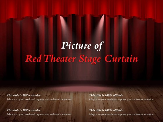Picture Of Red Theater Stage Curtain Ppt PowerPoint Presentation Gallery Topics