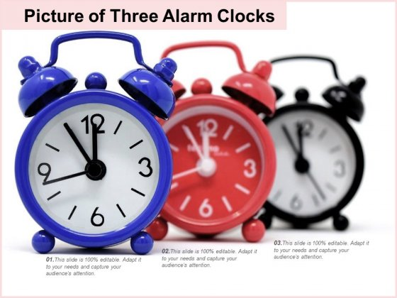 Picture Of Three Alarm Clocks Ppt PowerPoint Presentation Slides Infographic Template