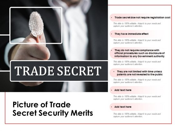 Picture Of Trade Secret Security Merits Ppt PowerPoint Presentation Model Shapes PDF