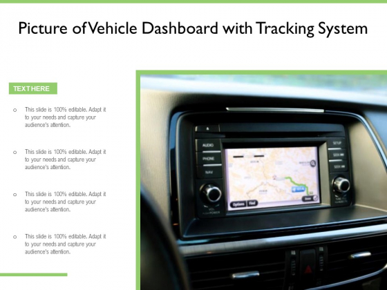 Picture Of Vehicle Dashboard With Tracking System Ppt PowerPoint Presentation File Good PDF