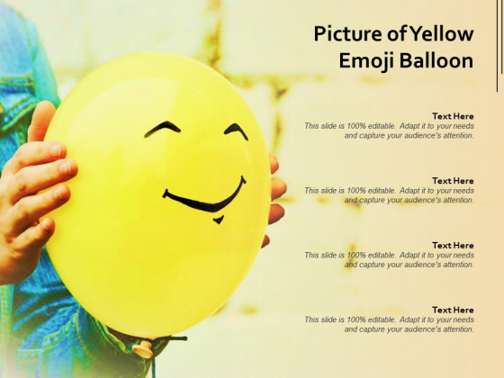 Picture Of Yellow Emoji Balloon Ppt PowerPoint Presentation Styles Outfit