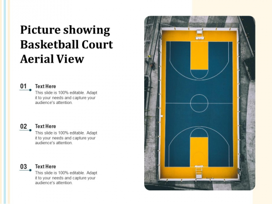 Picture Showing Basketball Court Aerial View Ppt PowerPoint Presentation Show Guidelines PDF
