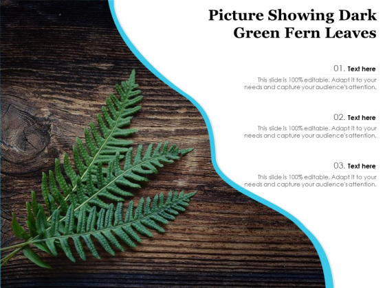 Picture Showing Dark Green Fern Leaves Ppt PowerPoint Presentation Slides Infographic Template PDF