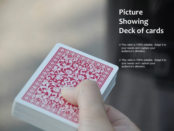 Picture Showing Deck Of Cards Ppt PowerPoint Presentation Show Background Image