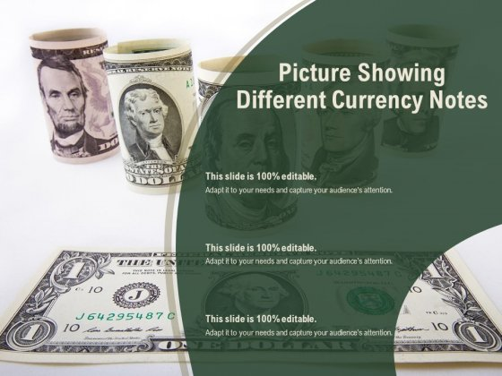 Picture Showing Different Currency Notes Ppt PowerPoint Presentation Icon Topics