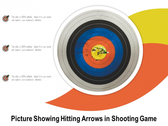 Picture Showing Hitting Arrows In Shooting Game Ppt PowerPoint Presentation Outline Grid PDF