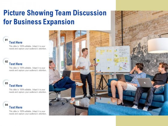 Picture Showing Team Discussion For Business Expansion Ppt PowerPoint Presentation Icon Model