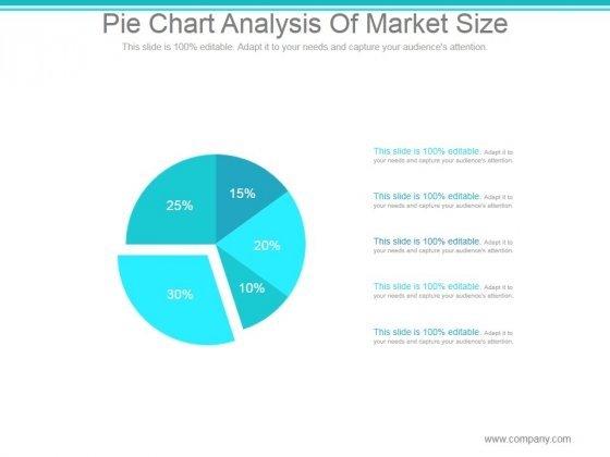 Pie Chart Analysis Of Market Size Ppt PowerPoint Presentation Show