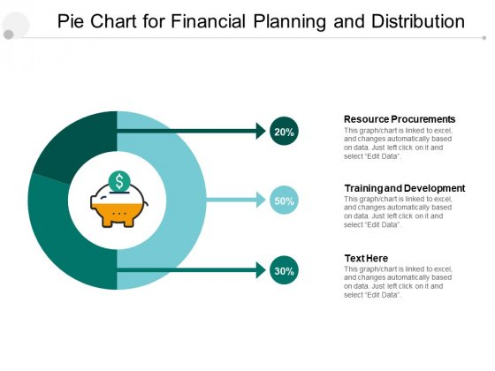 Pie Chart For Financial Planning And Distribution Ppt PowerPoint Presentation File Deck