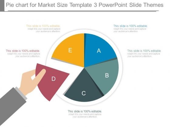 pie chart for market size template 3 powerpoint slide themes, Powerpoint templates