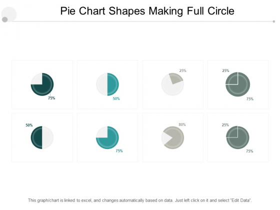Pie Chart Shapes Making Full Circle Ppt PowerPoint Presentation Ideas Example Introduction