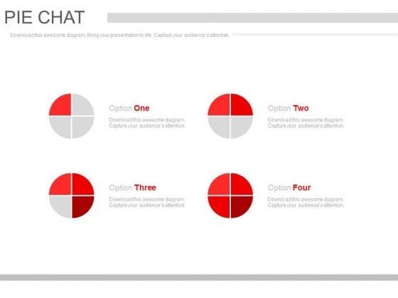 Pie Charts For Market Segmentation Powerpoint Slides