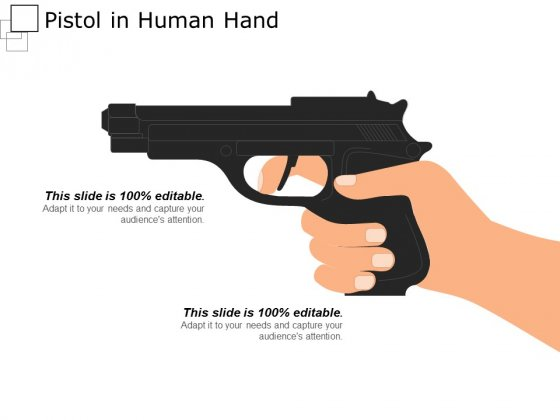 Pistol In Human Hand Ppt PowerPoint Presentation Show Background