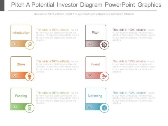 Pitch A Potential Investor Diagram Powerpoint Graphics