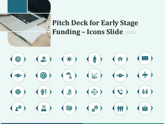 Pitch Deck For Early Stage Funding Icons Slide Ppt Icon Gallery PDF