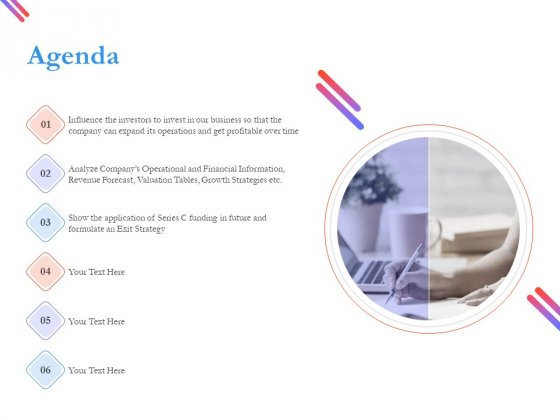 Pitch Deck For Fund Raising From Series C Funding Agenda Guidelines PDF