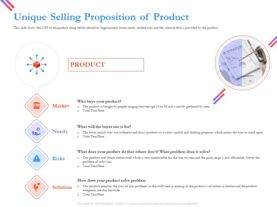 Pitch Deck For Fund Raising From Series C Funding Unique Selling Proposition Of Product Graphics PDF