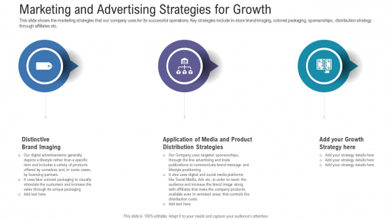 Pitch Deck For Fundraising From Angel Investors Marketing And Advertising Strategies For Growth Background PDF