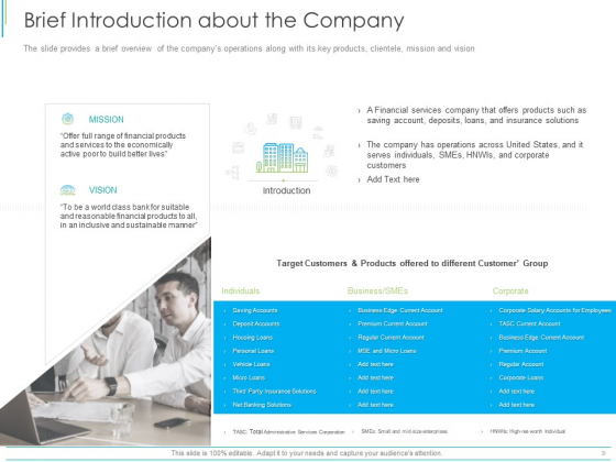 Pitch Deck For Mezzanine Financing Brief Introduction About The Company Ppt Outline Template PDF