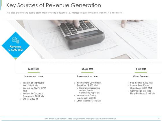 Pitch Deck For Mezzanine Financing Key Sources Of Revenue Generation Ppt Professional Templates PDF
