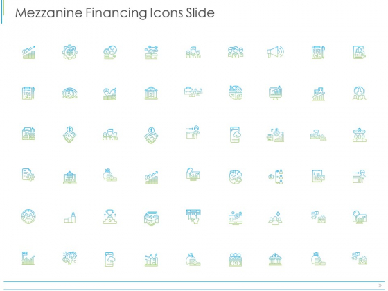 Pitch Deck For Mezzanine Financing Mezzanine Financing Icons Slide Ppt Icon Shapes PDF