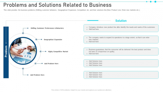 Pitch Deck For Raising Capital From Business Finances Problems And Solutions Related To Business Template PDF