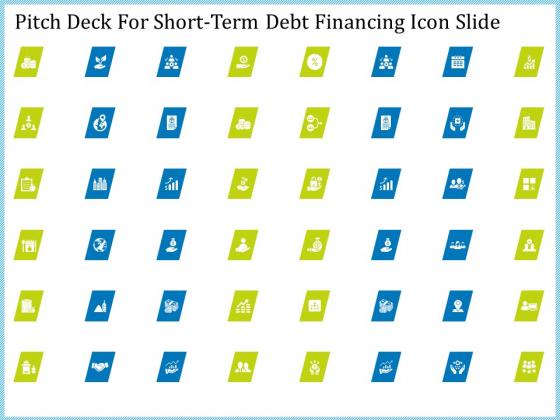 Pitch Deck For Short Term Debt Financing Icon Slide Slides PDF