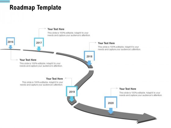Pitch Deck To Collect Funding From Initial Financing Roadmap Template Background PDF