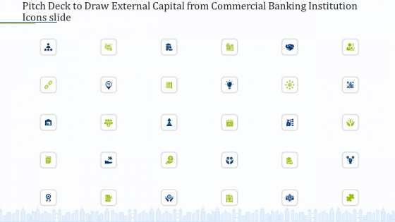 Pitch Deck To Draw External Capital From Commercial Banking Institution Icons Slide Portrait PDF