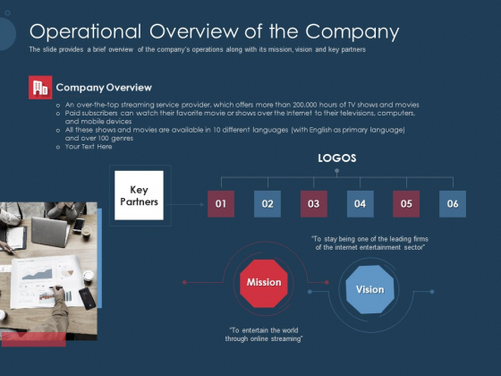Pitch Deck To Gather Funding From Initial Capital Operational Overview Of The Company Themes PDF