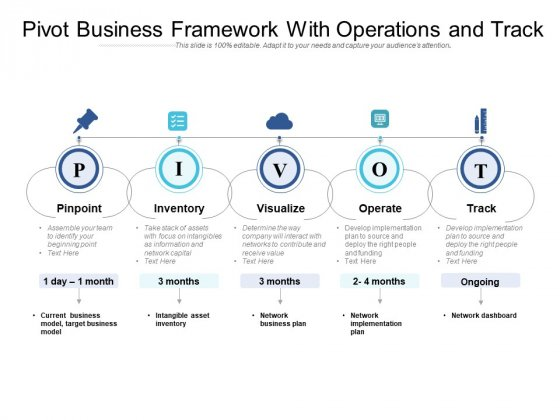 Pivot Business Framework With Operations And Track Ppt PowerPoint Presentation Infographics PDF