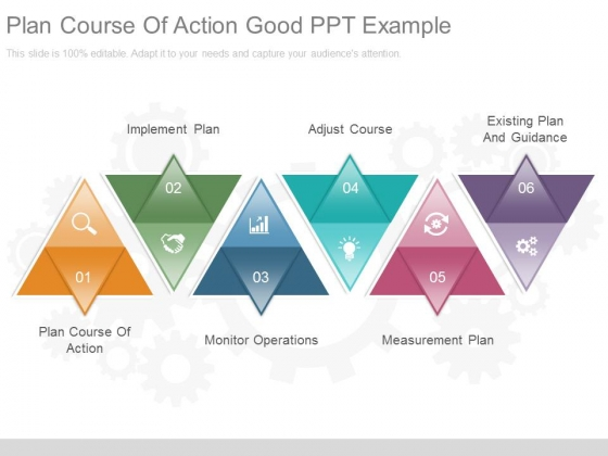 Plan Course Of Action Good Ppt Example