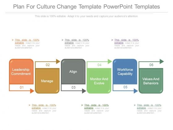 Plan For Culture Change Template Powerpoint Templates