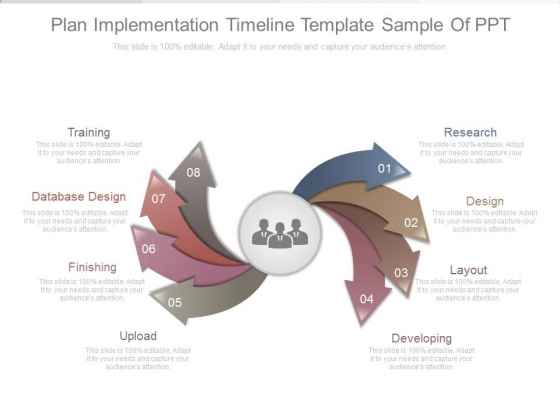 Plan Implementation Timeline Template Sample Of Ppt