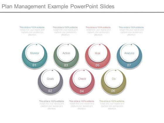 Plan Management Example Powerpoint Slides