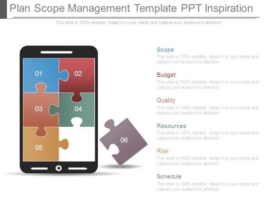 Plan Scope Management Template Ppt Inspiration