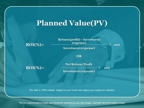 Planned Value Pv Ppt PowerPoint Presentation Portfolio Backgrounds