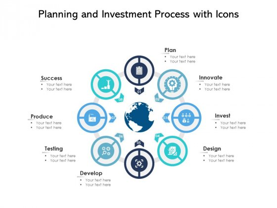 Planning And Investment Process With Icons Ppt PowerPoint Presentation File Slides PDF