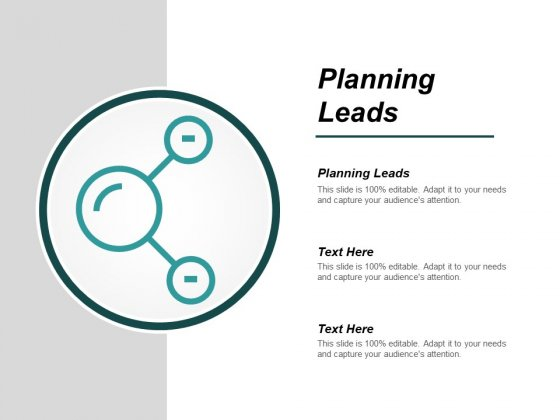 Planning Leads Ppt PowerPoint Presentation Show Pictures Cpb