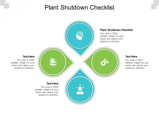 Plant Shutdown Checklist Ppt PowerPoint Presentation Icon Templates Cpb Pdf