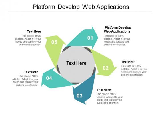 Platform Develop Web Applications Ppt PowerPoint Presentation Show Cpb Pdf